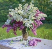 A bouquet of lilacs 95х100