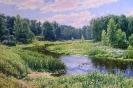 Пейзаж с рекой 60х90