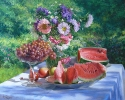 Still life with watermelon 60x75