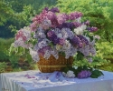 Basket of lilacs 80x100