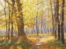 The path in autumn park 60x80