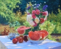 Still life with watermelon60x75