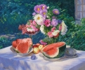 Still life with watermelon 70х85