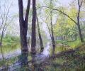 Spring flooding. Gorky Park 50x60