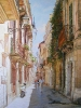 Sunlit street 75x100