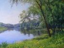Пейзаж с рекой 60x80